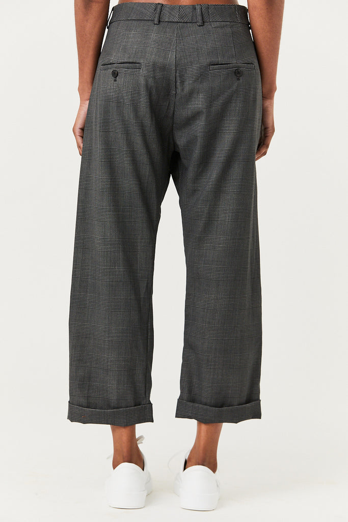 R13 - Crossover Trouser, Grey Check