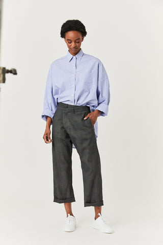 Crossover Trouser, Grey Check