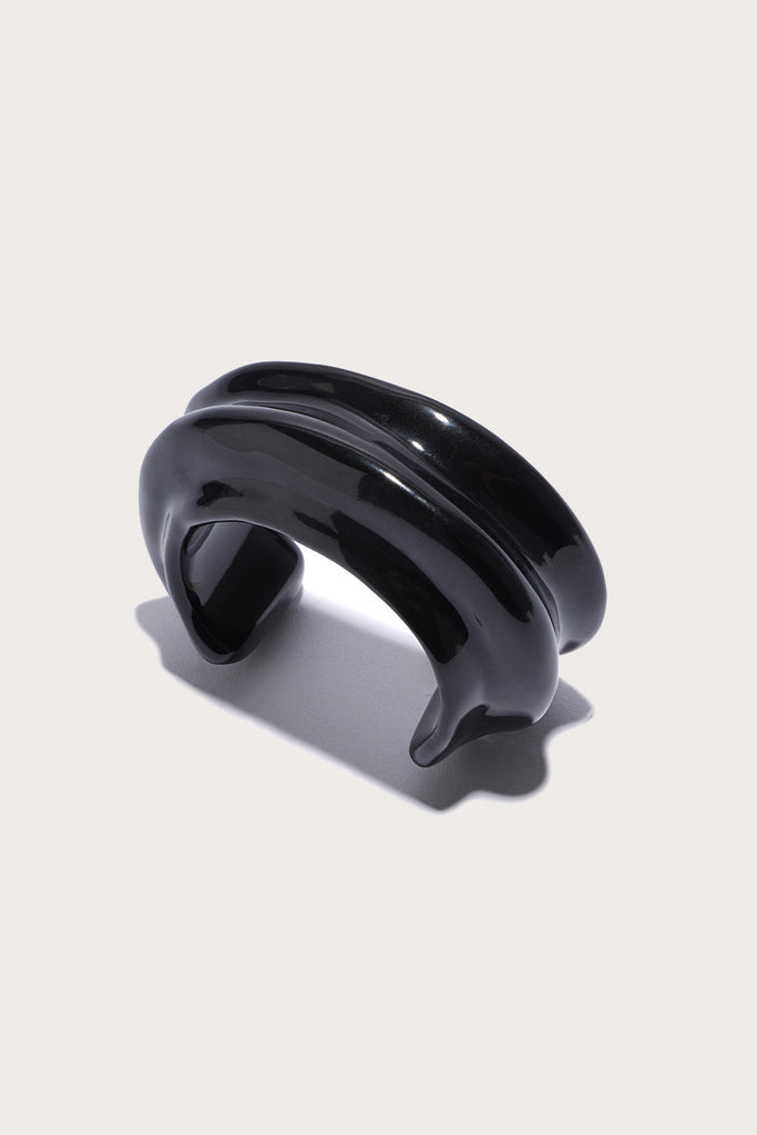 Sculptural Cuff, Black