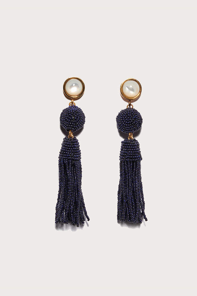 Havana earrings, Navy