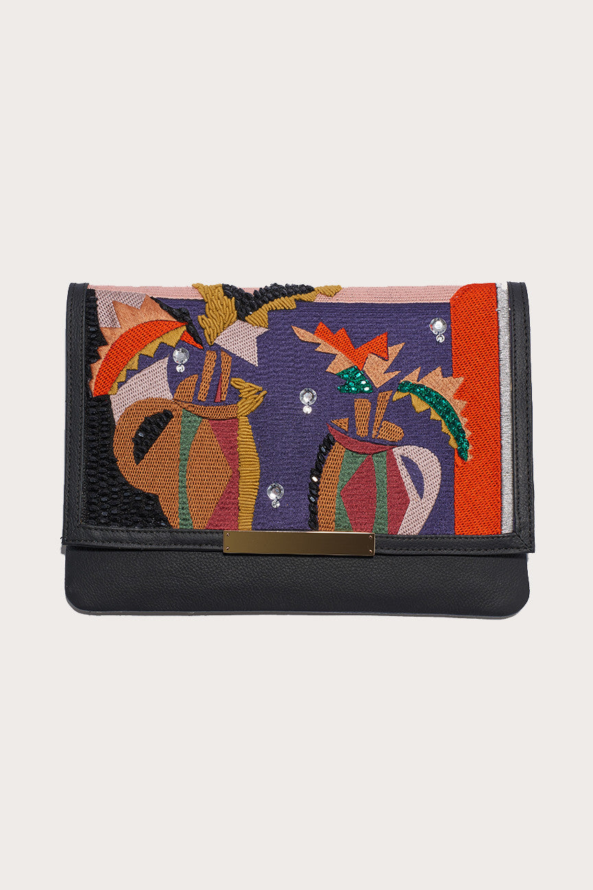 Port of call cubist vase clutch by Lizzie Fortunato @ Kick Pleat - 1