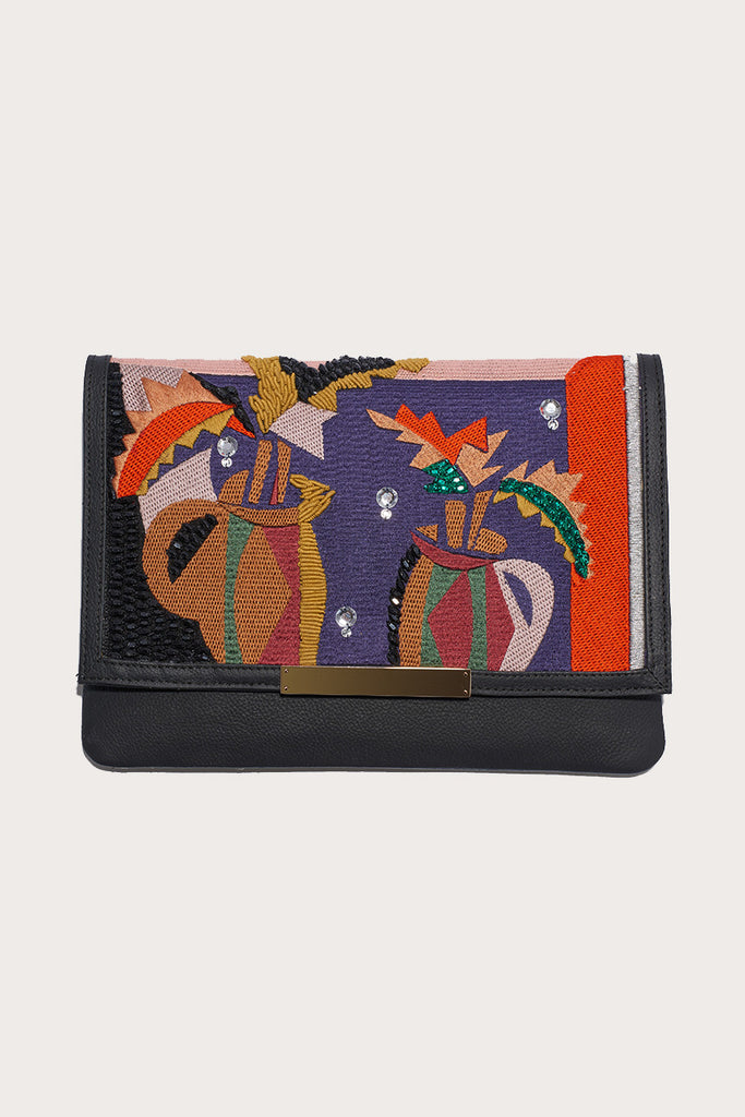 Port of call cubist vase clutch
