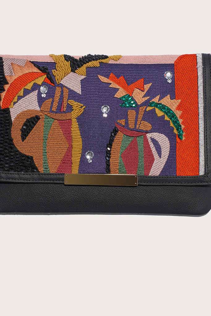 Port of call cubist vase clutch by Lizzie Fortunato @ Kick Pleat - 2