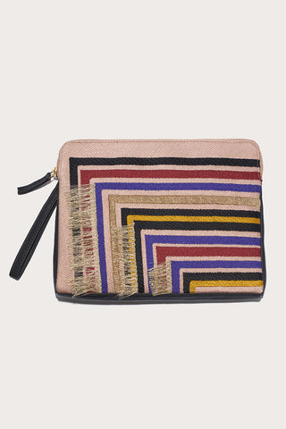Safari clutch, Stella Stripe and Black