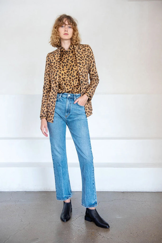 relaxed shirt, leopard