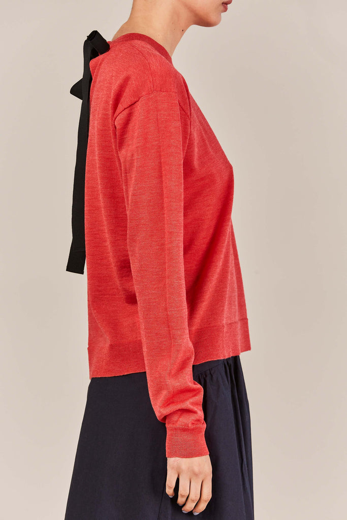 Rochas - L/S Knitted Top, Red