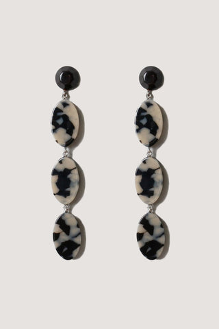 Bond long earrings, dalmation