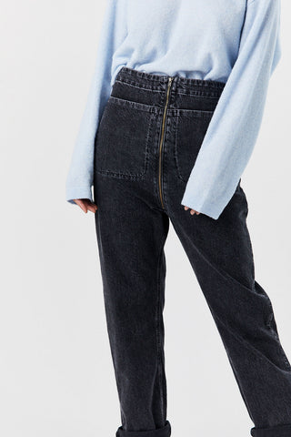 Barrie Pant, Washed Black Denim