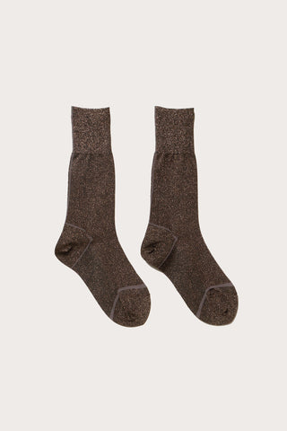 Biles Metallic Crew Sock, Black