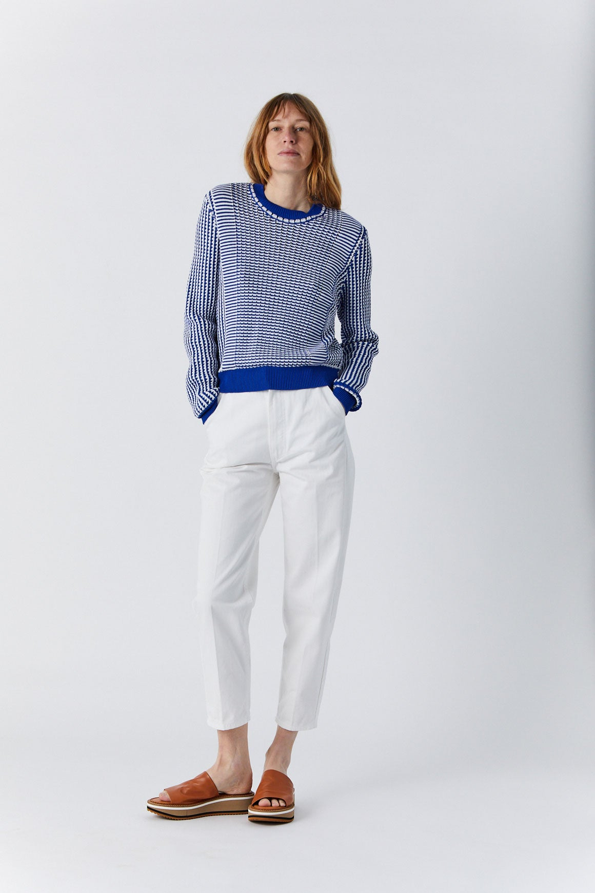 RACHEL COMEY - Carnac Pullover, Blue & White