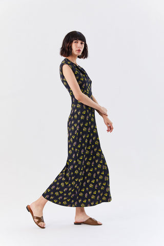 Chrysantha Dress, Black