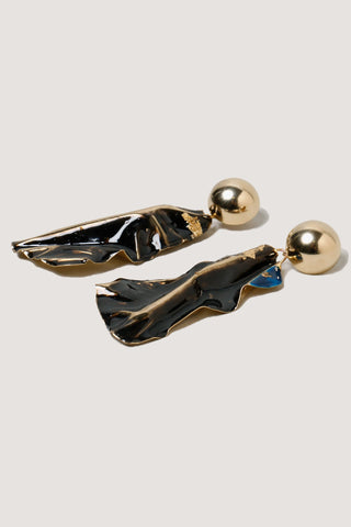 Collision Earring, Black
