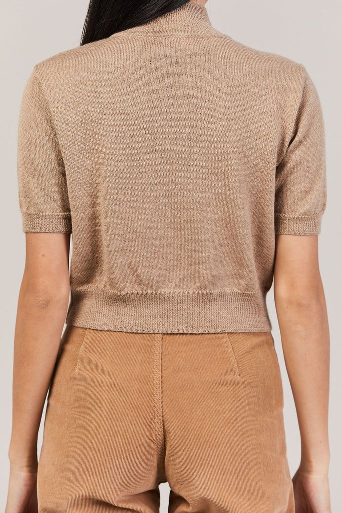 Rachel Comey - Cropped Knit Tee, Camel