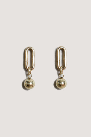 Frey earrings, BRASS
