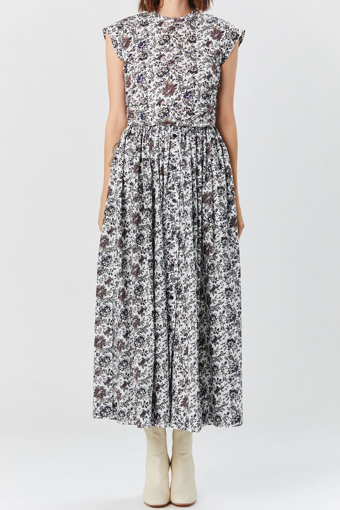 Rachel Comey - Montecito Dress, Brown Floral Print