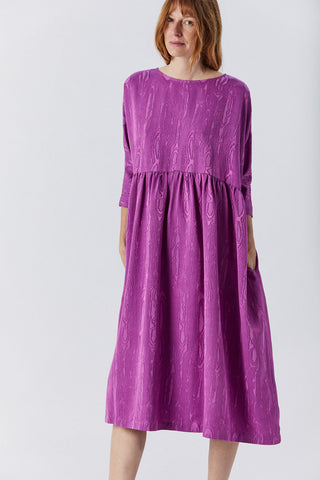 Oust Dress, Orchid Moire Jacquard