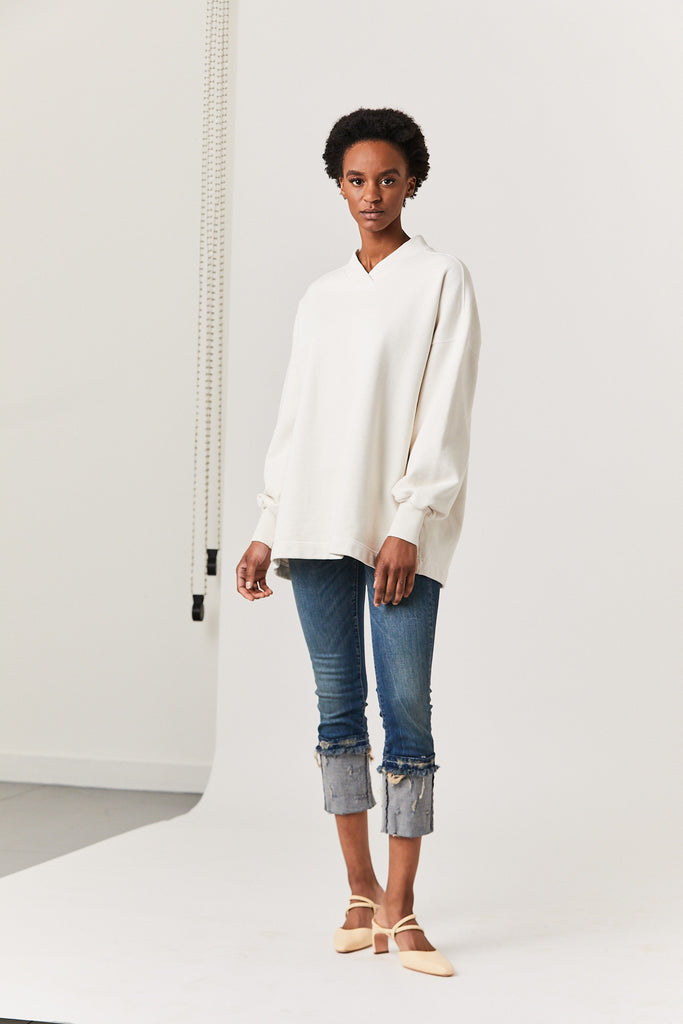 Repose Tunic, Dirty White Terry