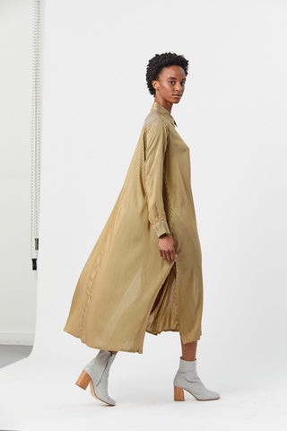Spate Shirtdress, Gold Stripe