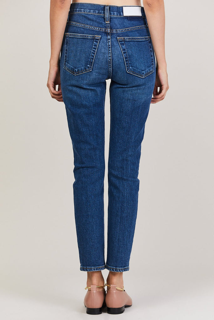 RE/DONE - High Rise Ankle Crop, Dark Blue