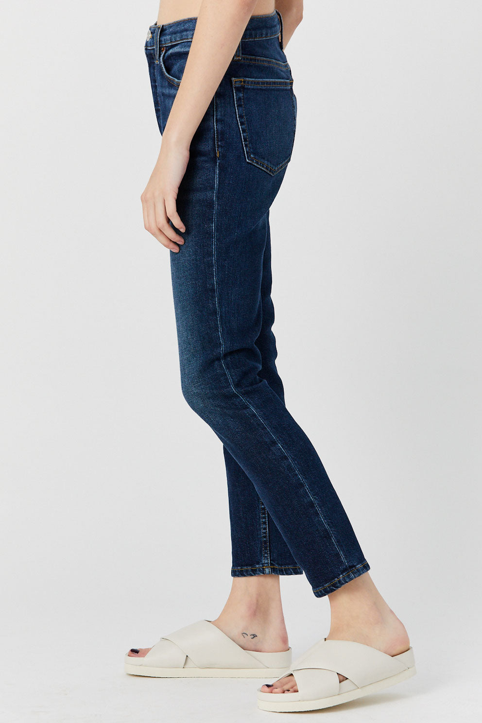 RE/DONE - High Rise Ankle Crop, Indigo