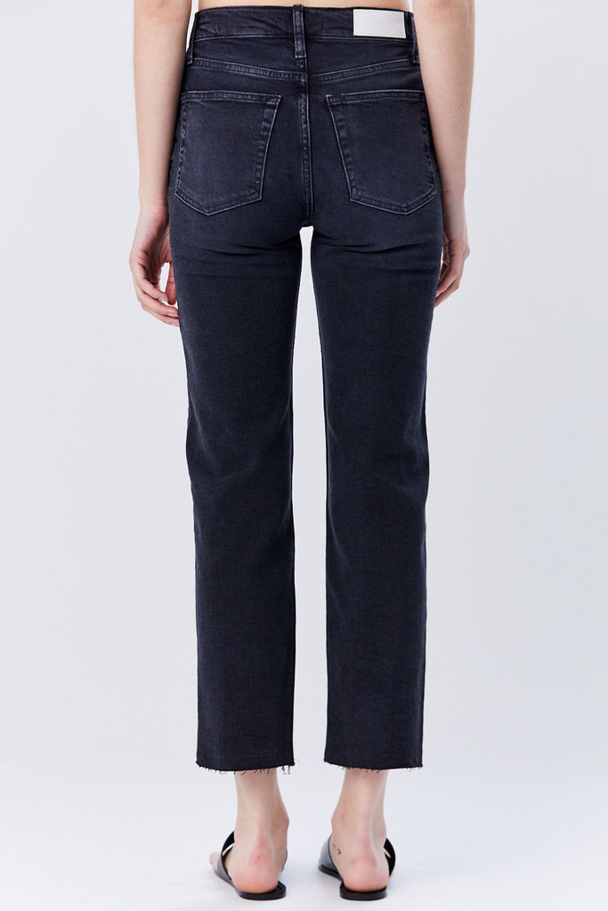 Re/Done - High Rise Stovepipe Jean, Faded Black