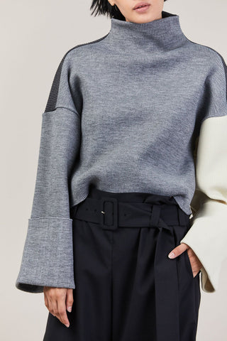 Parker Sweater, Grey & Ivory
