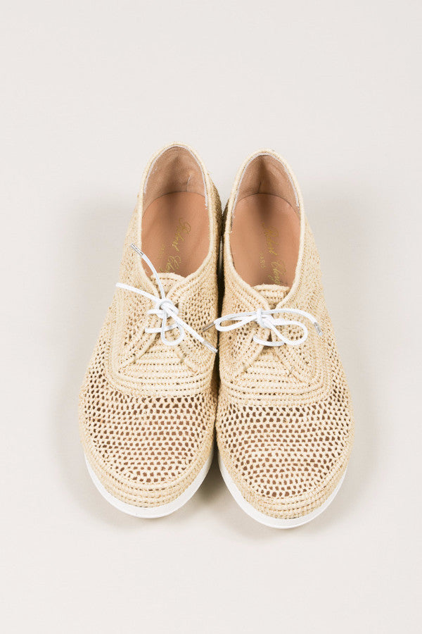 Vicole M Raffia Platform Wedge, Natural raffia. by Robert Clergerie @ Kick Pleat - 5