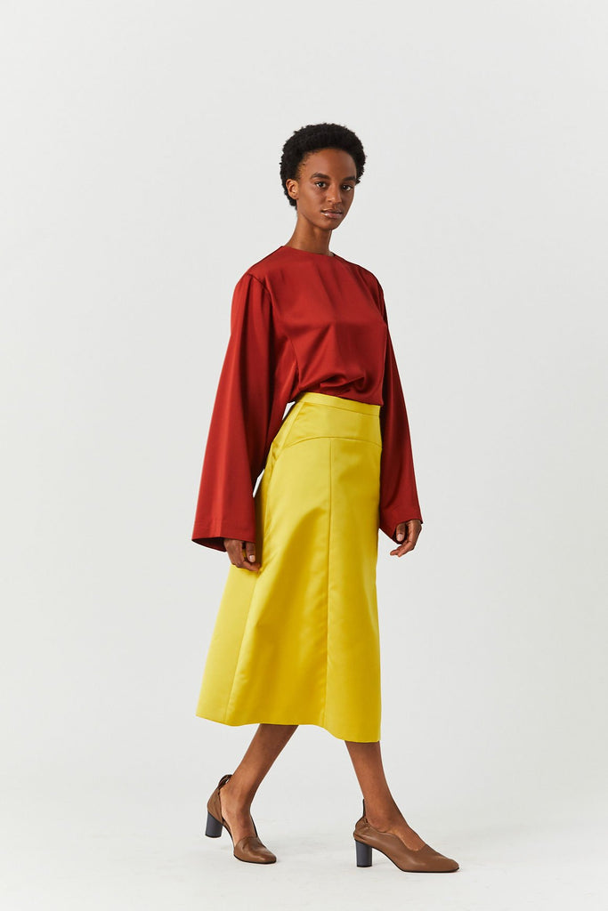 A-line Skirt, Yellow