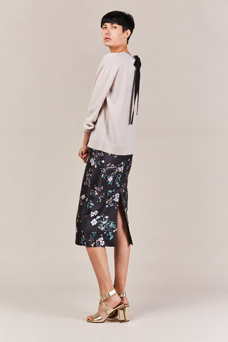 flower print pencil skirt