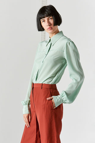 Button Down Shirt, Mint