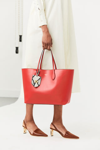 Calf Leather Bag, Red