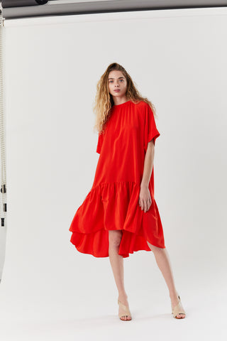 Orpello Dress, Red