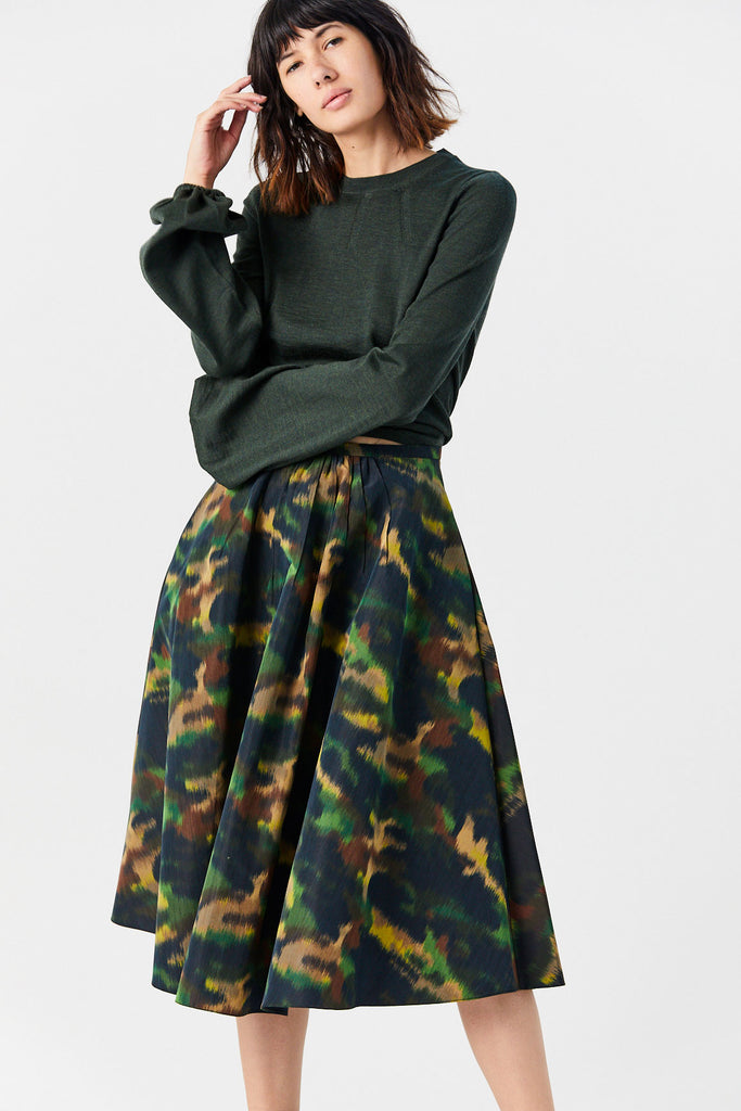 Pesca Skirt, Camouflage Green