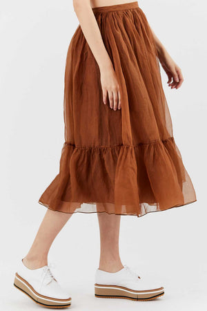ROCHAS - Qualix Skirt, Brown