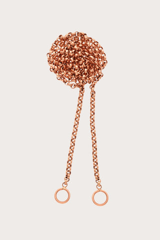 "Marla Aaron 18"" Rolo Chain, Rose Gold"