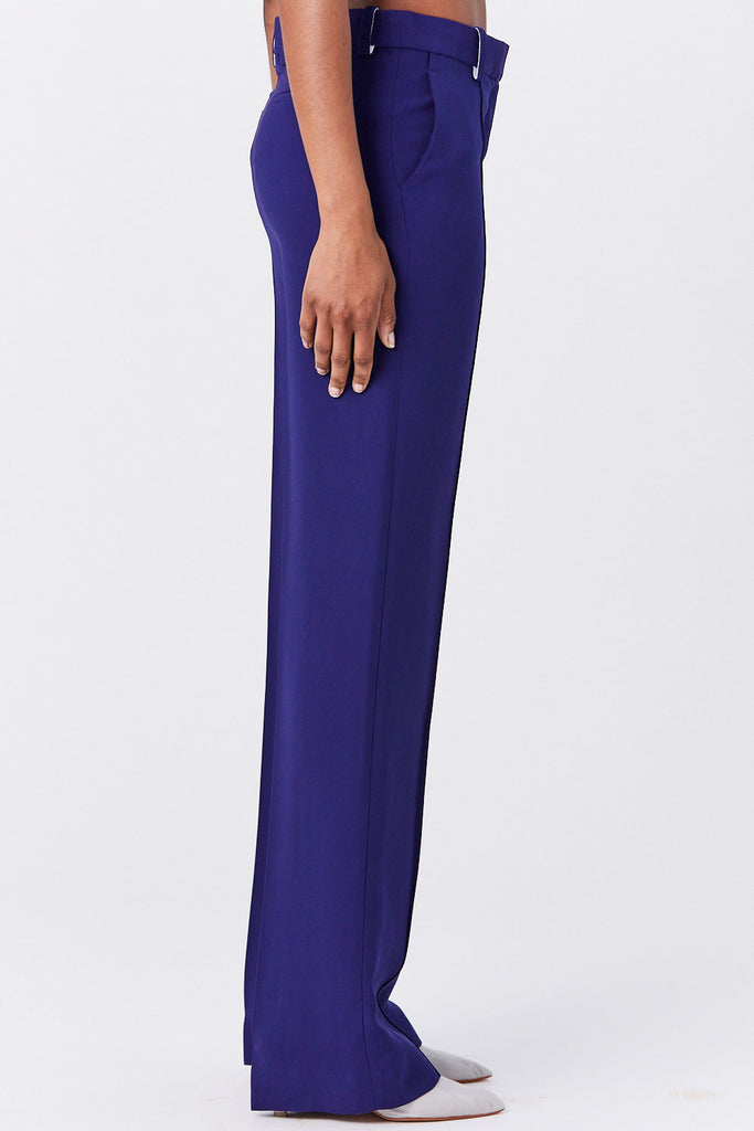 ROSETTA GETTY - Pintuck Straight Trouser, Cobalt