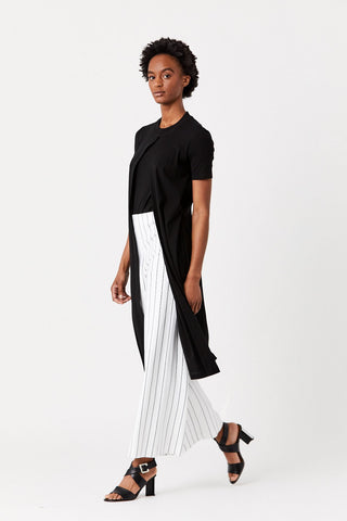 Cropped Straight Pant, Stripe