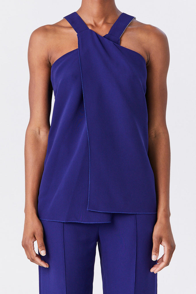 ROSETTA GETTY - Cross Front Tank, Cobalt
