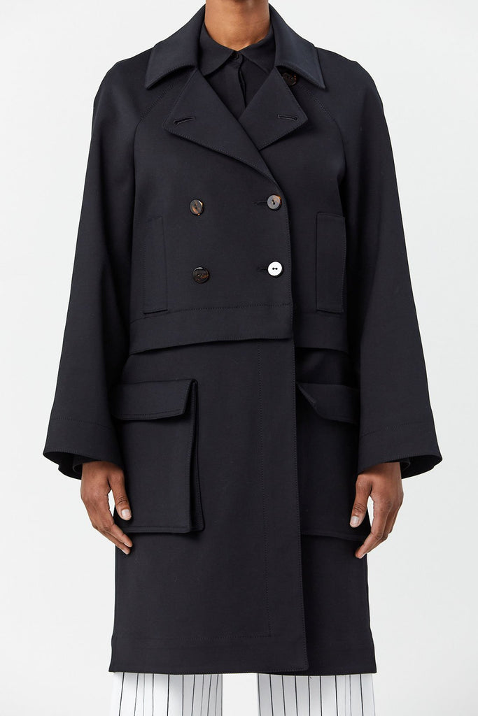 Rosetta Getty - Detachable Peacoat, Black