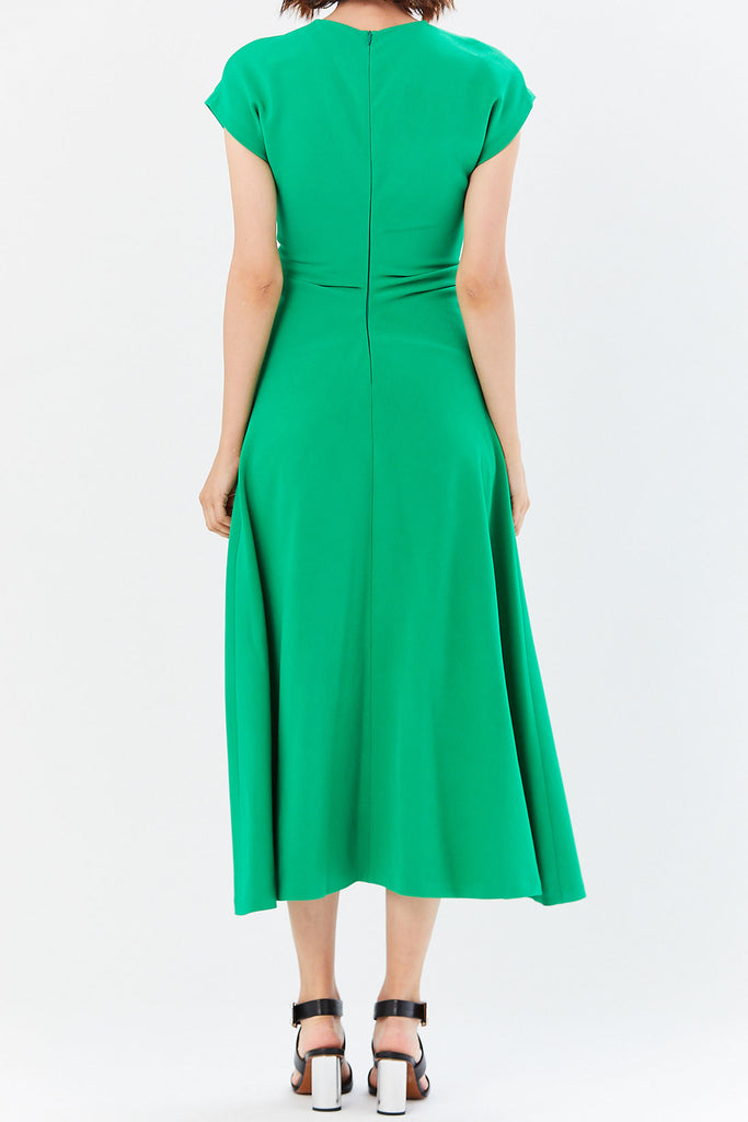 Rosetta Getty - Ruched Flare Dress, Meadow