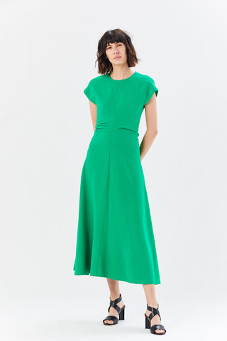 Ruched Flare Dress, Meadow