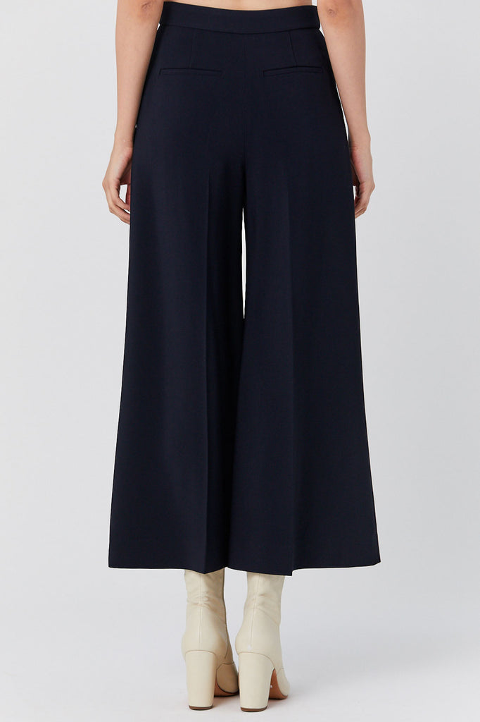 Rosetta Getty - High Rise Cropped Trouser, Navy