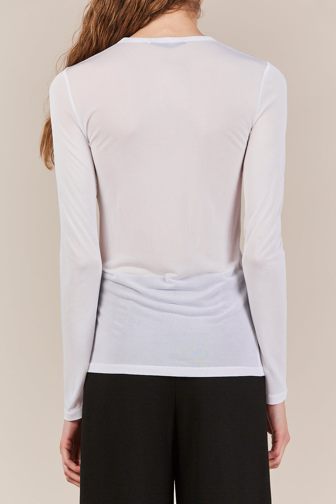 long sleeve t shirt, white