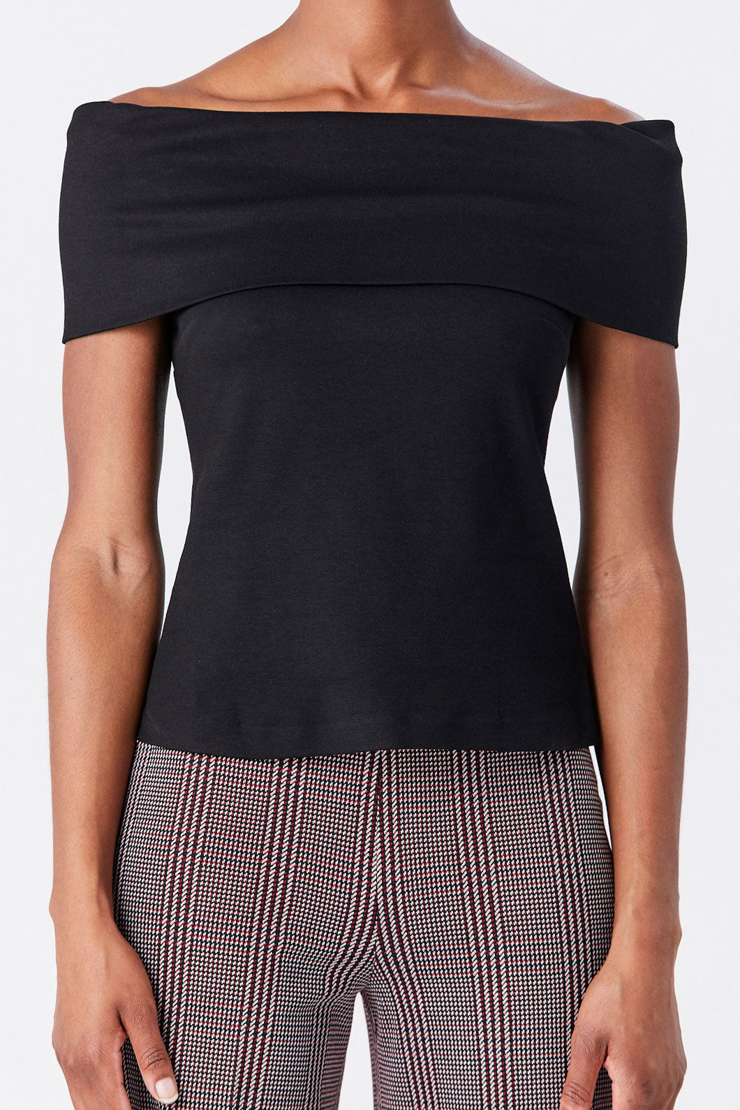 ROSETTA GETTY - Banded Off the Shoulder Top, Black