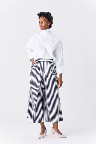 Pleated Culottes, Black & White
