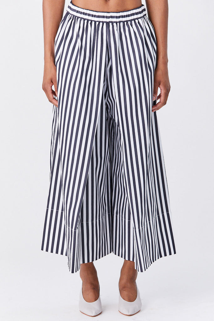 ROSETTA GETTY - Pleated Culottes, Black & White