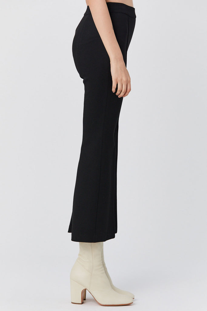 Rosetta Getty - Pull on Cropped Flare Pant, Black