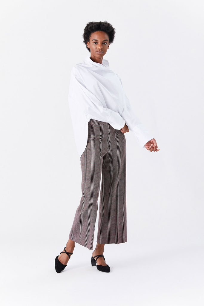 ROSETTA GETTY - Pull on Straight Trouser, Check