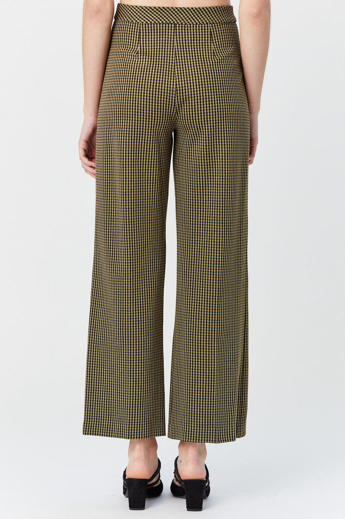 ROSETTA GETTY - Pull On Straight Trouser, Houndstooth