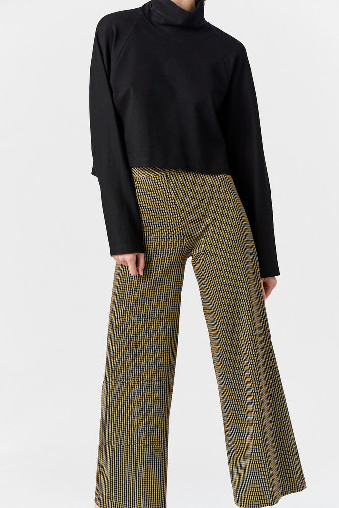 Pull On Straight Trouser, Houndstooth